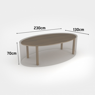 COVERTOP oval table 230x130xh.70cm drapp