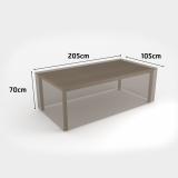COVERTOP table 205x105xh.70cm drapp