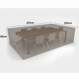 COVERTOP table+8 chairs 325x205xh.90cm drapp