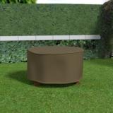 COVERTOP round table 125x125xh.70cm drapp